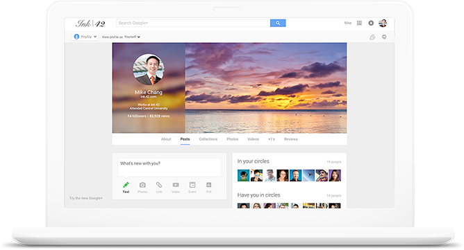 screenshot van het product Google_Plus